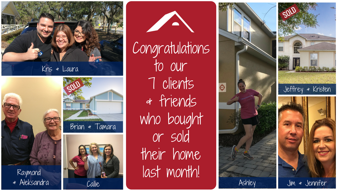 Congrats to our clients & friends who bought/sold a home last month!